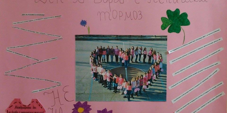 снимка за новина - Денят на розовата фланелка
