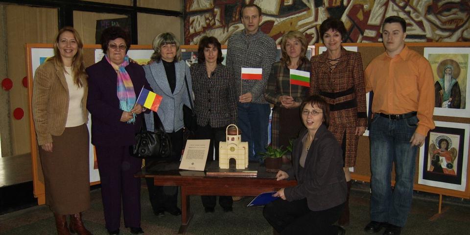 """снимка от проект 2006/2009 Сократ/Коменски Училищни партньорства: """"Европейски големи книги с приказки и легенди"""""""