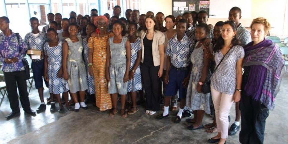 снимка от проект 2013/ 2014 Общуване Север Юг: партньорство между европейски и африкански училища за един справедлив свят